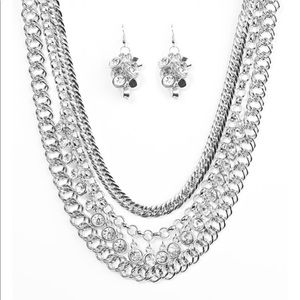 Jewelry - Power House Necklace Set with Earrings